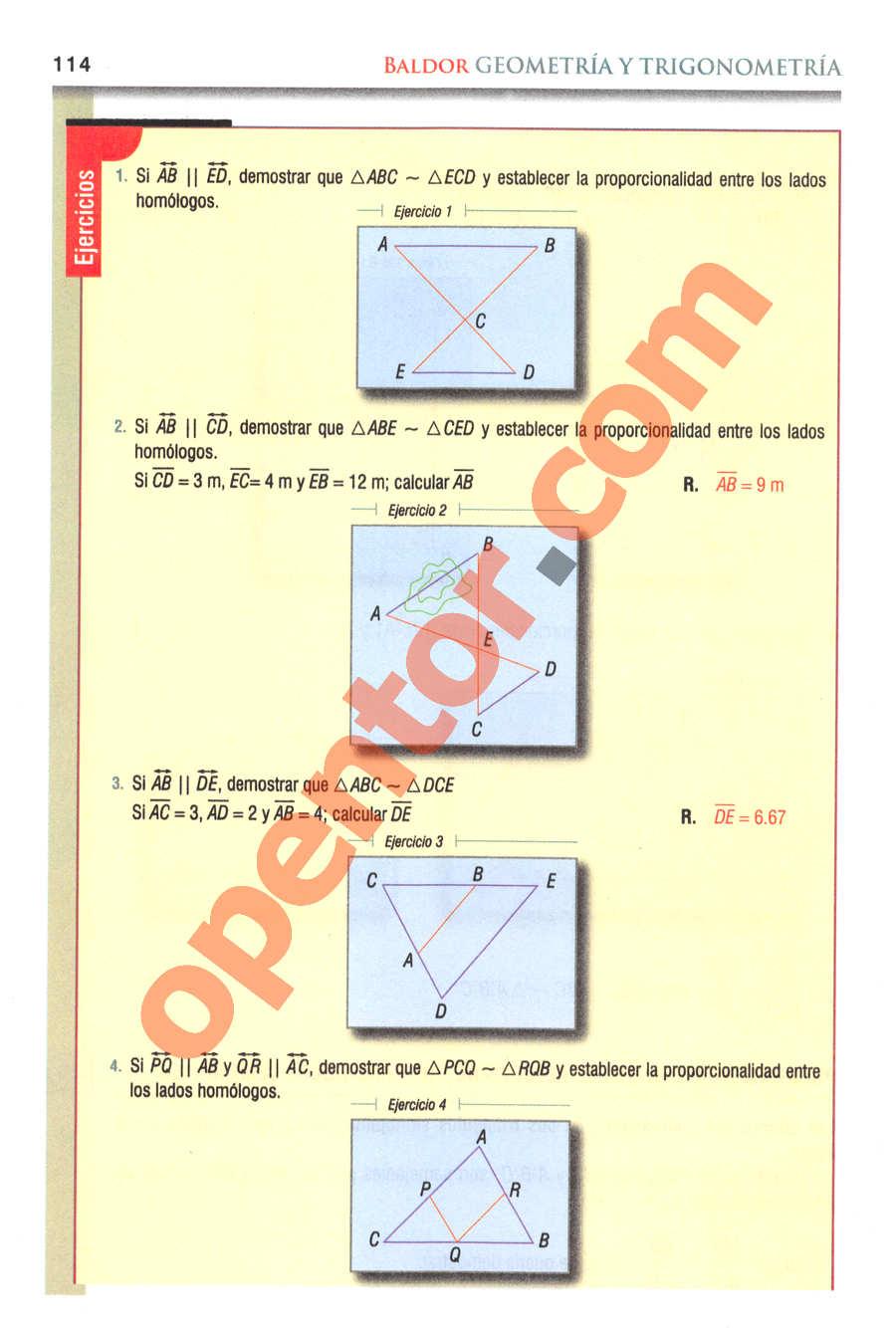 Geometría y Trigonometría de Baldor - Página 114