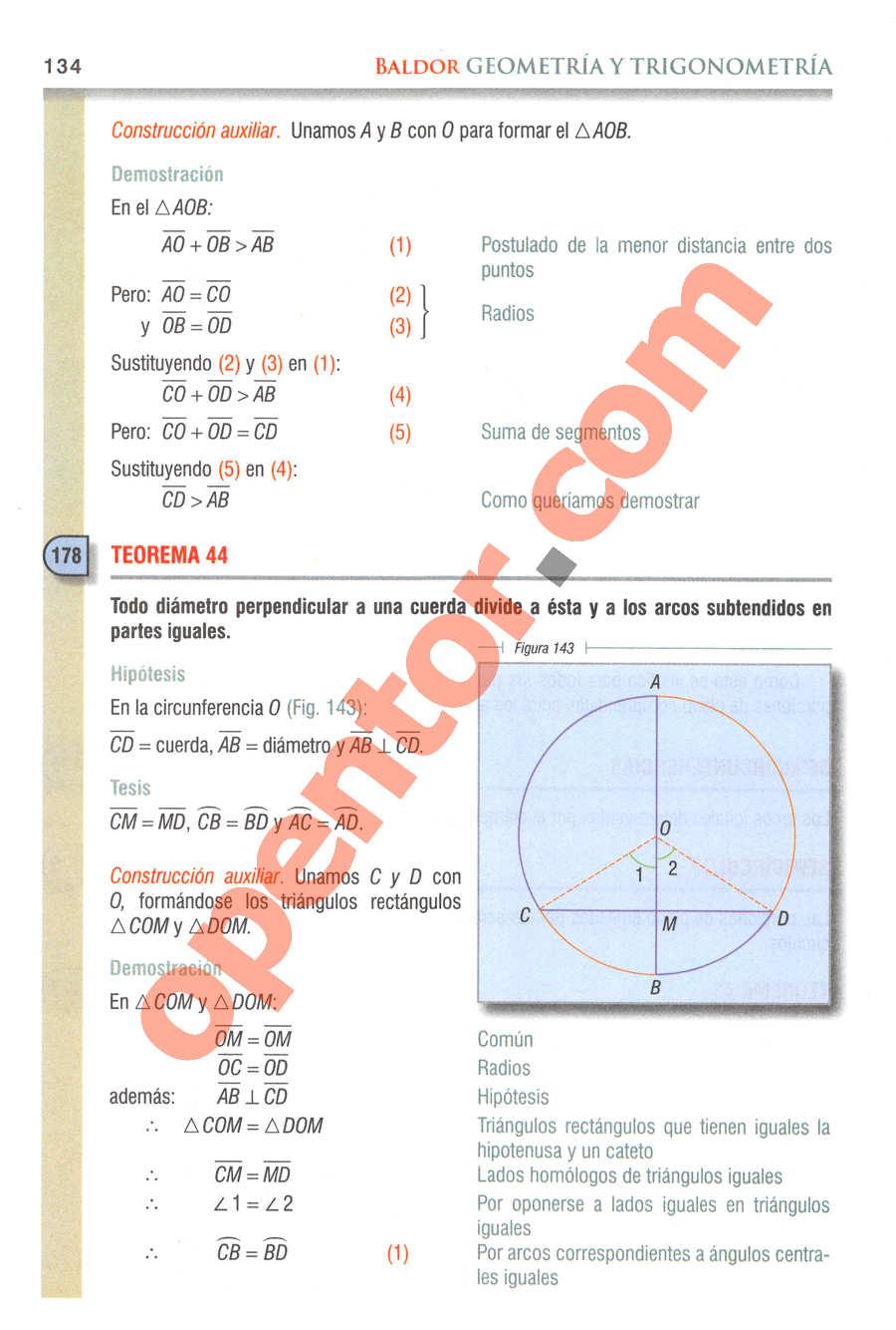 Geometría y Trigonometría de Baldor - Página 134