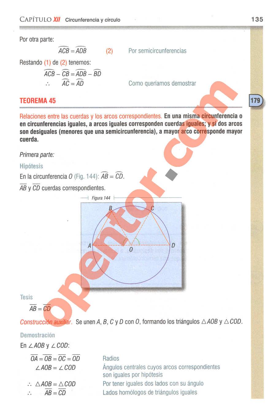 Geometría y Trigonometría de Baldor - Página 135