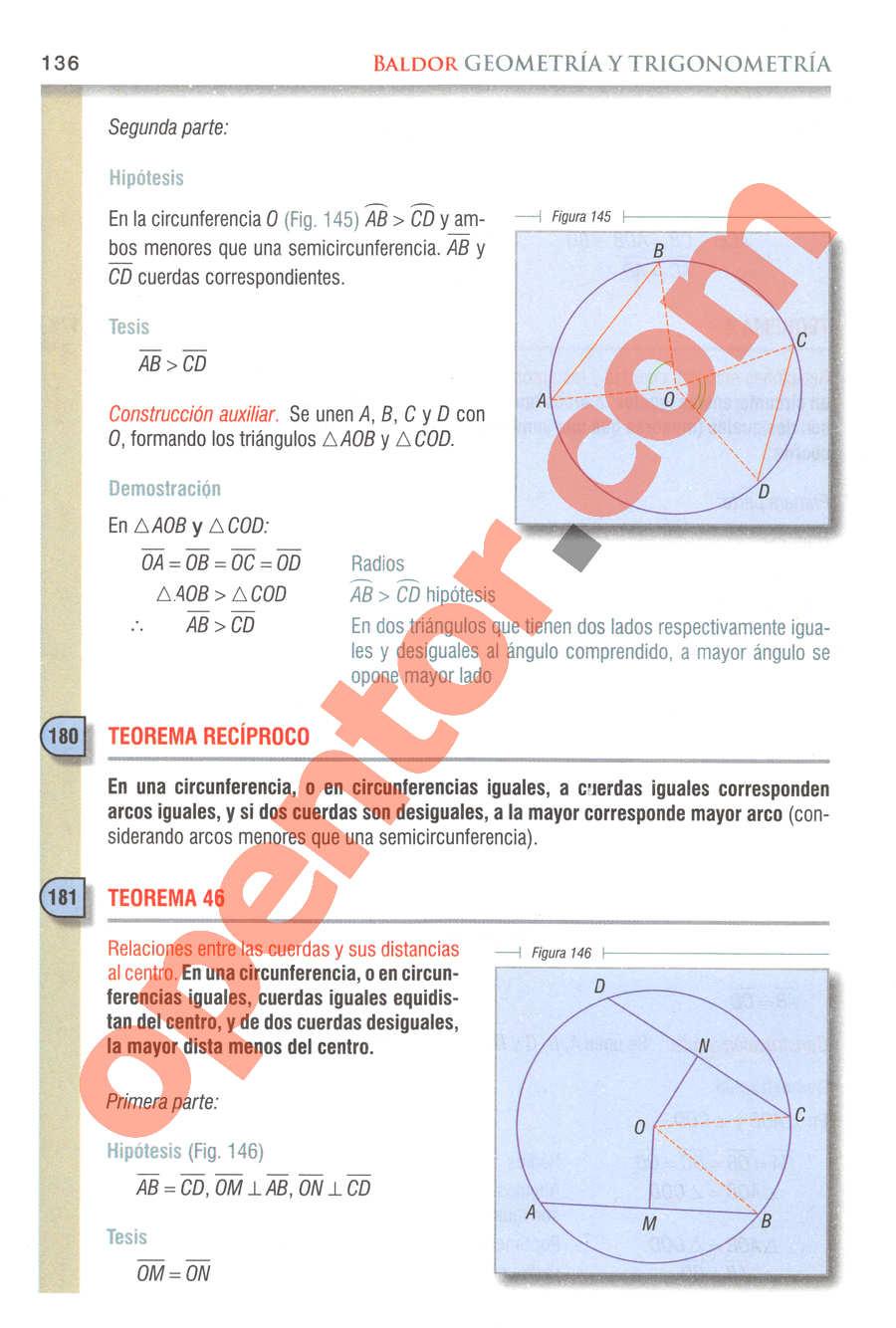 Geometría y Trigonometría de Baldor - Página 136