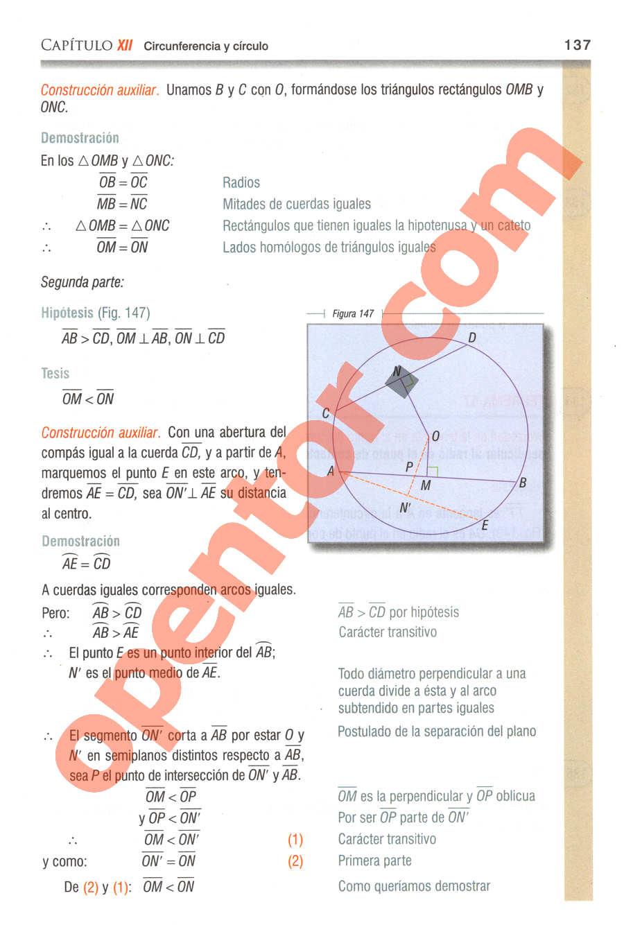 Geometría y Trigonometría de Baldor - Página 137