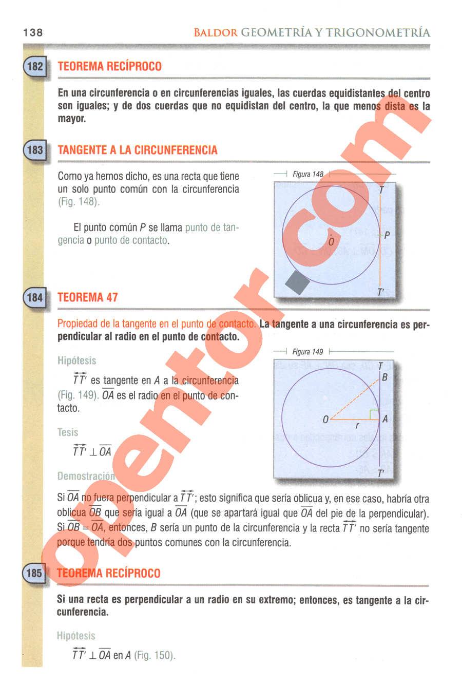 Geometría y Trigonometría de Baldor - Página 138