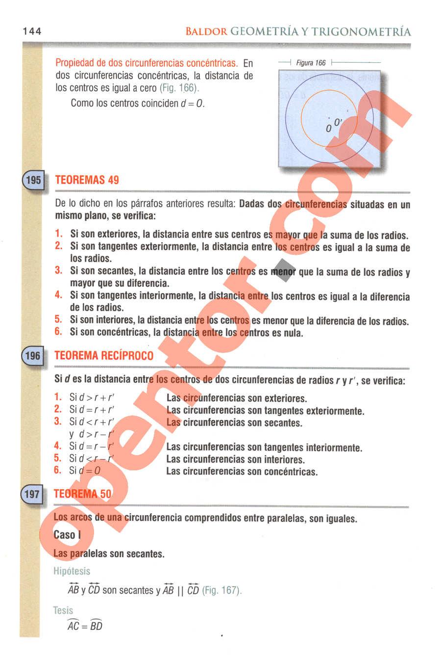 Geometría y Trigonometría de Baldor - Página 144