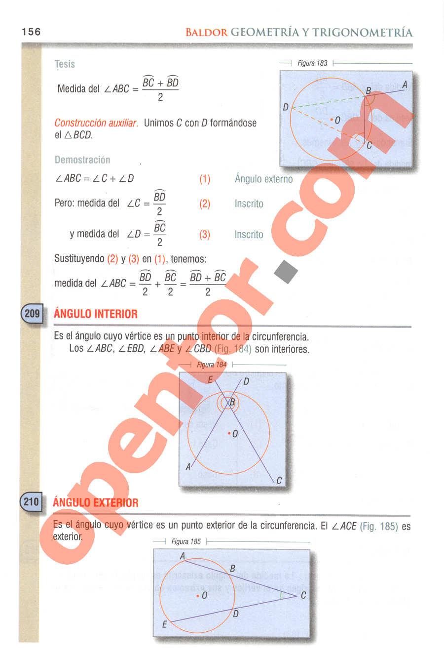 Geometría y Trigonometría de Baldor - Página 156