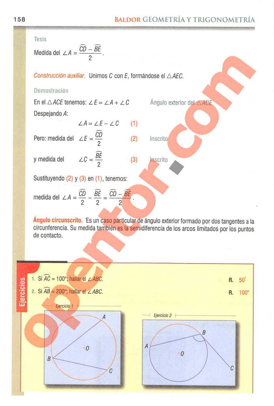 Geometría y Trigonometría de Baldor - Página 158