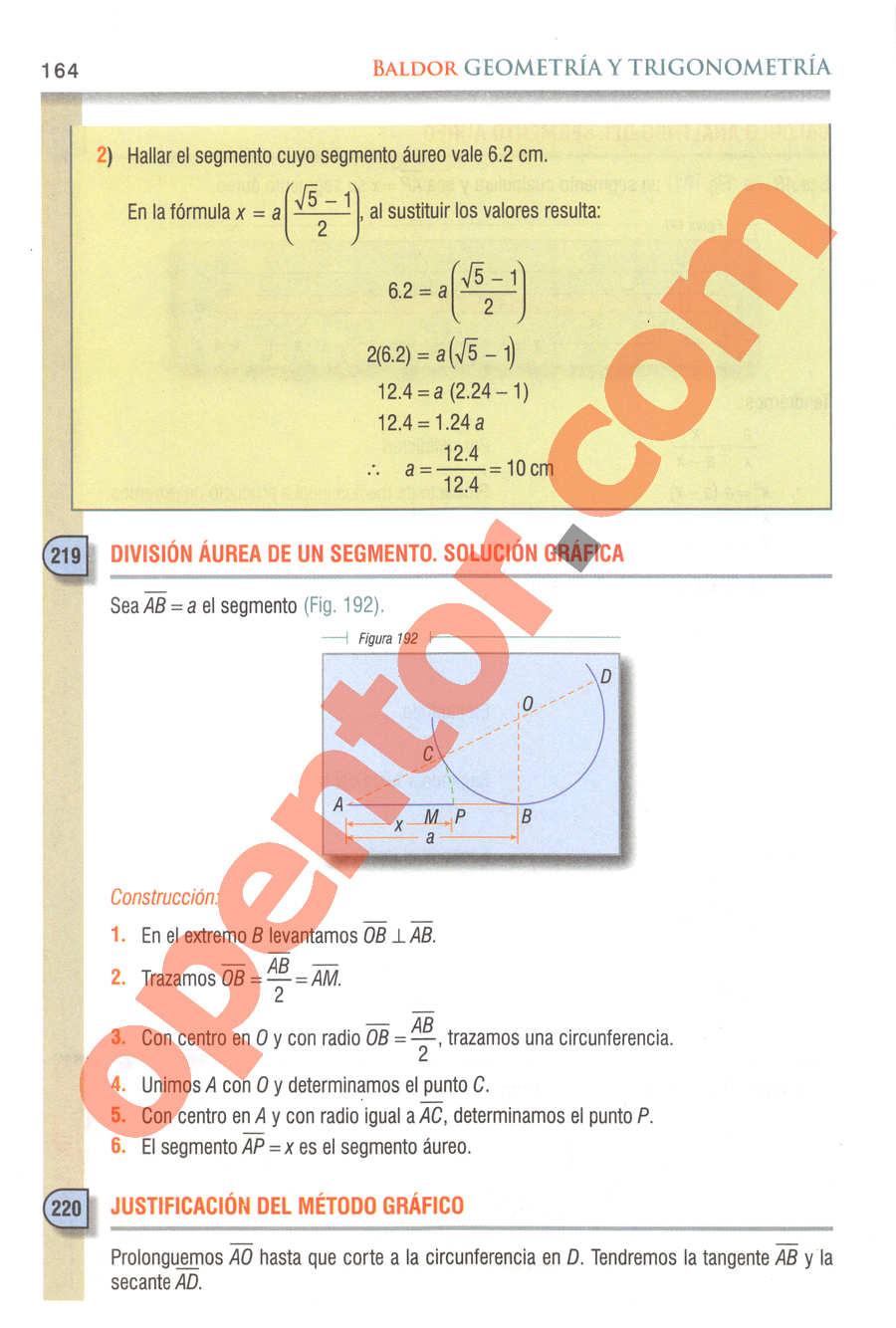 Geometría y Trigonometría de Baldor - Página 164