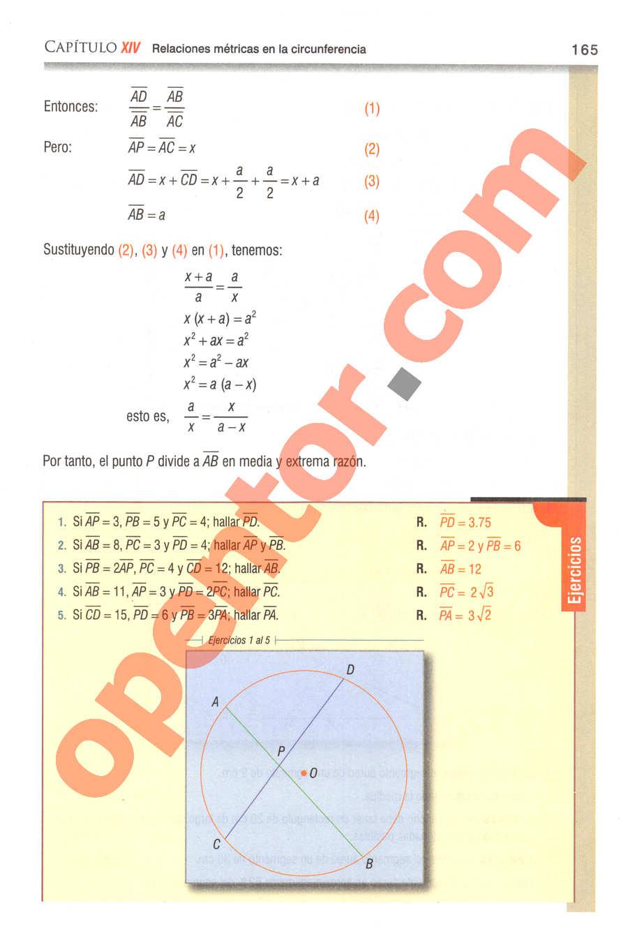 Geometría y Trigonometría de Baldor - Página 165