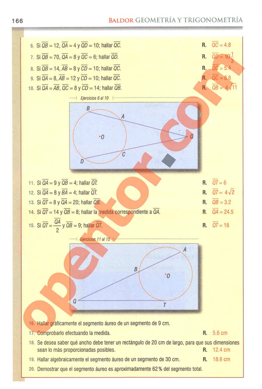 Geometría y Trigonometría de Baldor - Página 166