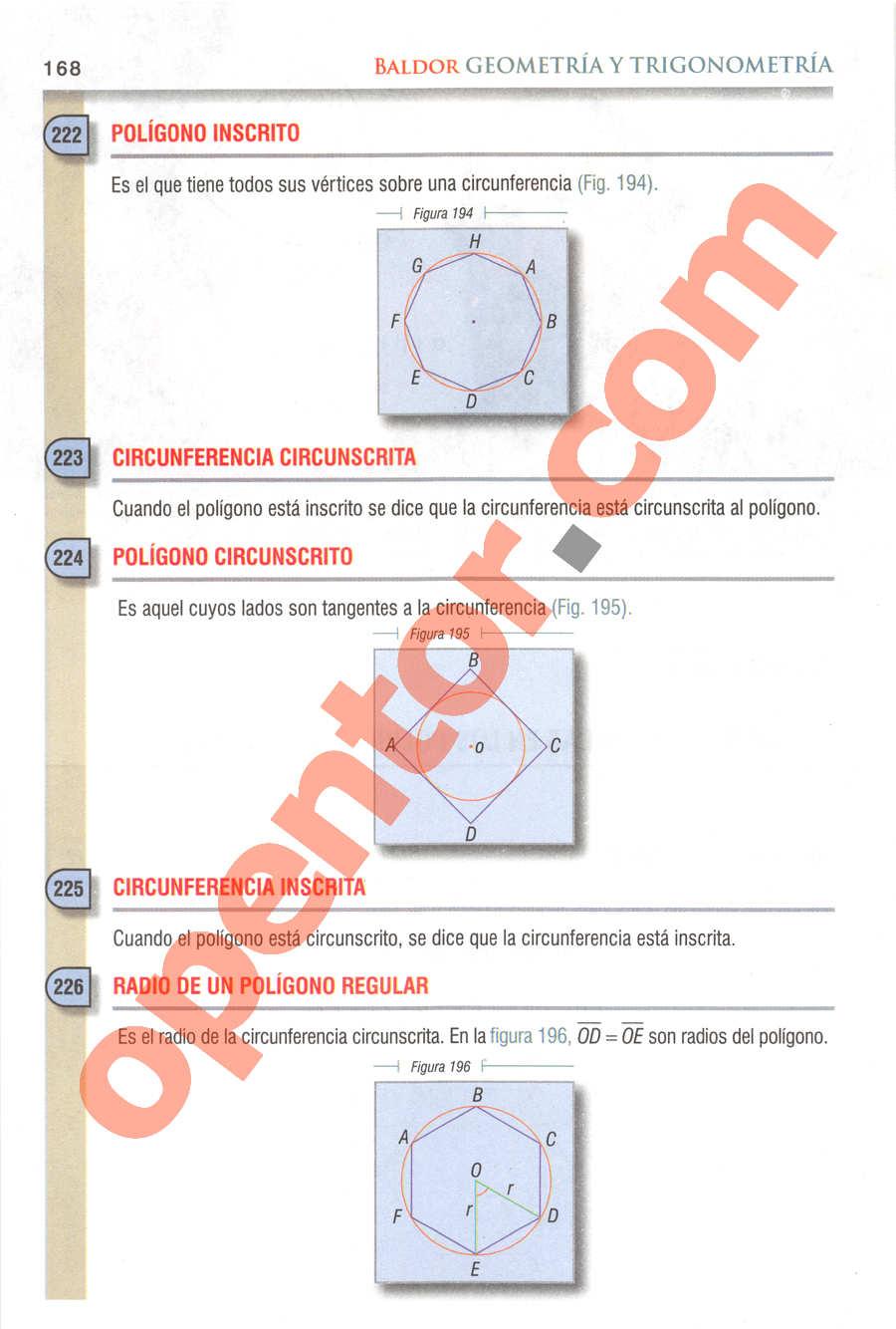 Geometría y Trigonometría de Baldor - Página 168