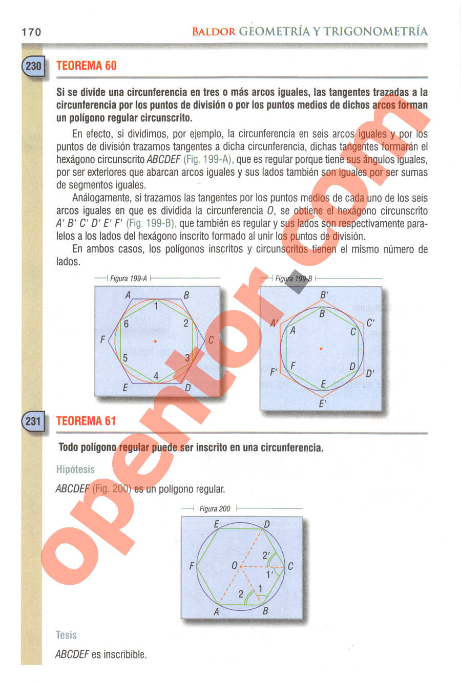 Geometría y Trigonometría de Baldor - Página 170