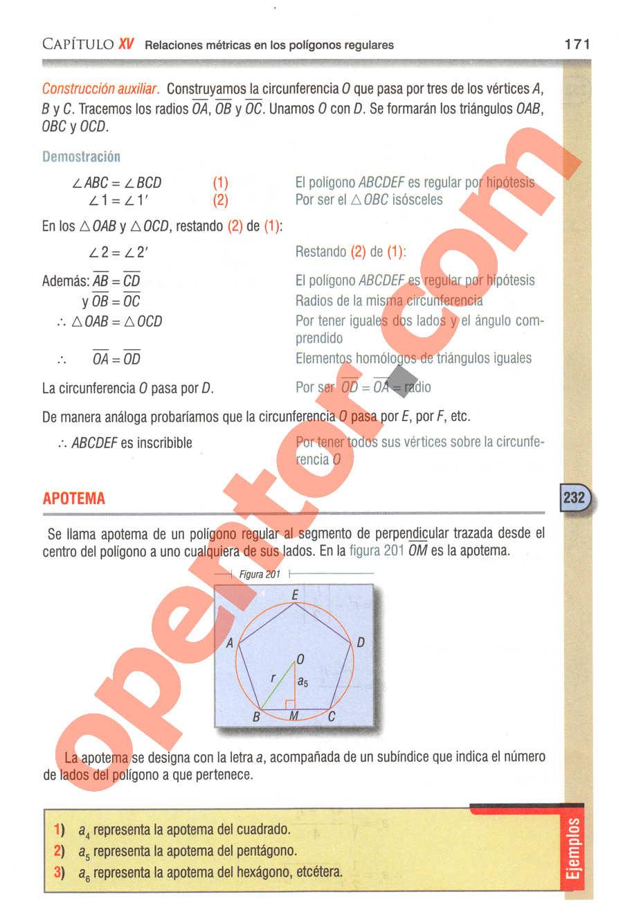 Geometría y Trigonometría de Baldor - Página 171