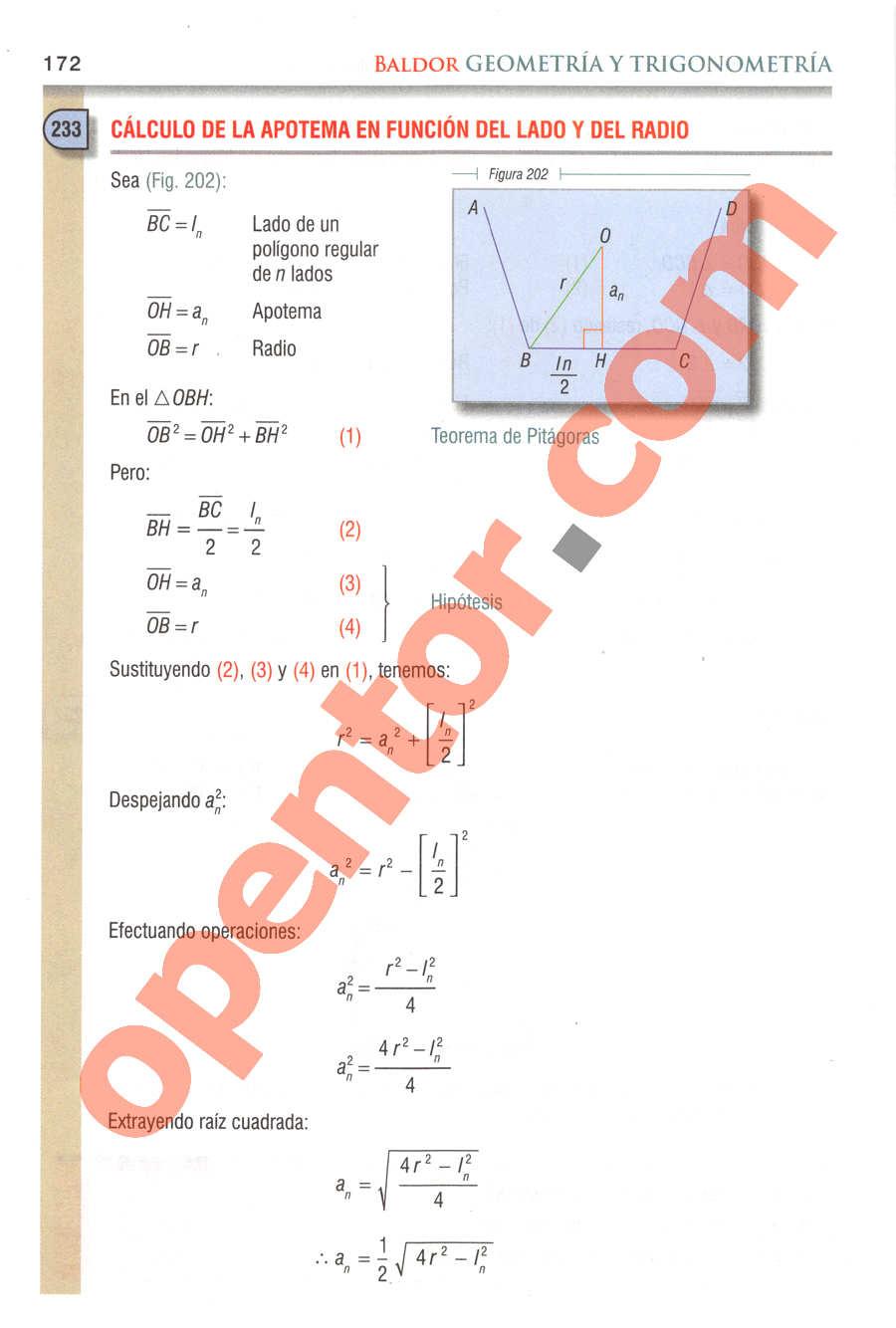 Geometría y Trigonometría de Baldor - Página 172