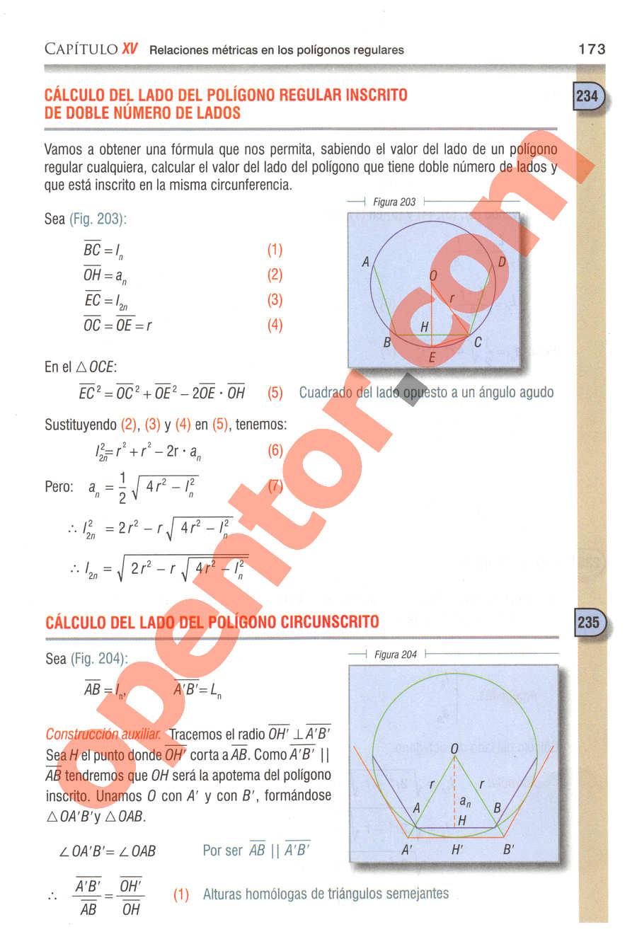 Geometría y Trigonometría de Baldor - Página 173