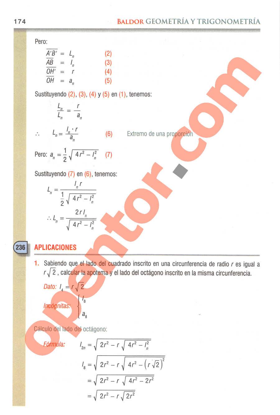 Geometría y Trigonometría de Baldor - Página 174