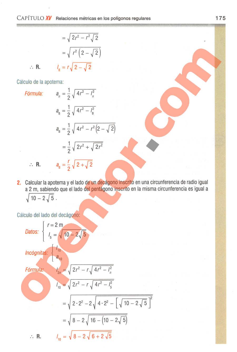 Geometría y Trigonometría de Baldor - Página 175