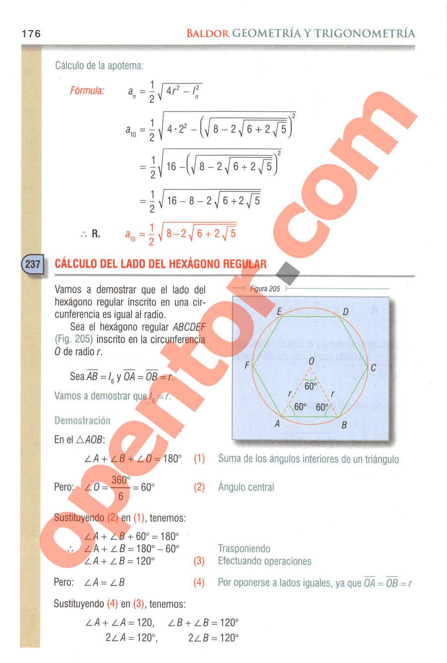 Geometría y Trigonometría de Baldor - Página 176