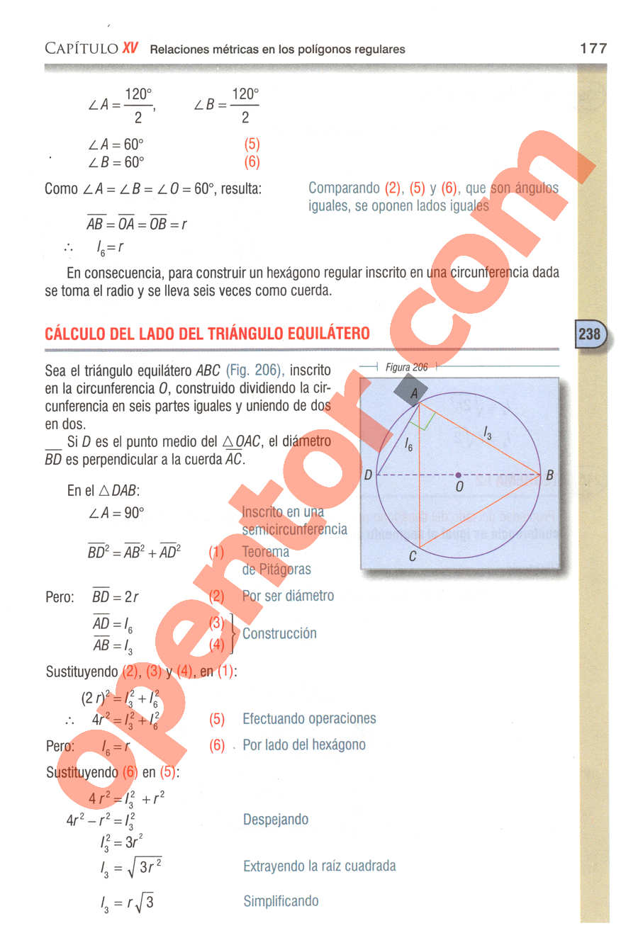 Geometría y Trigonometría de Baldor - Página 177