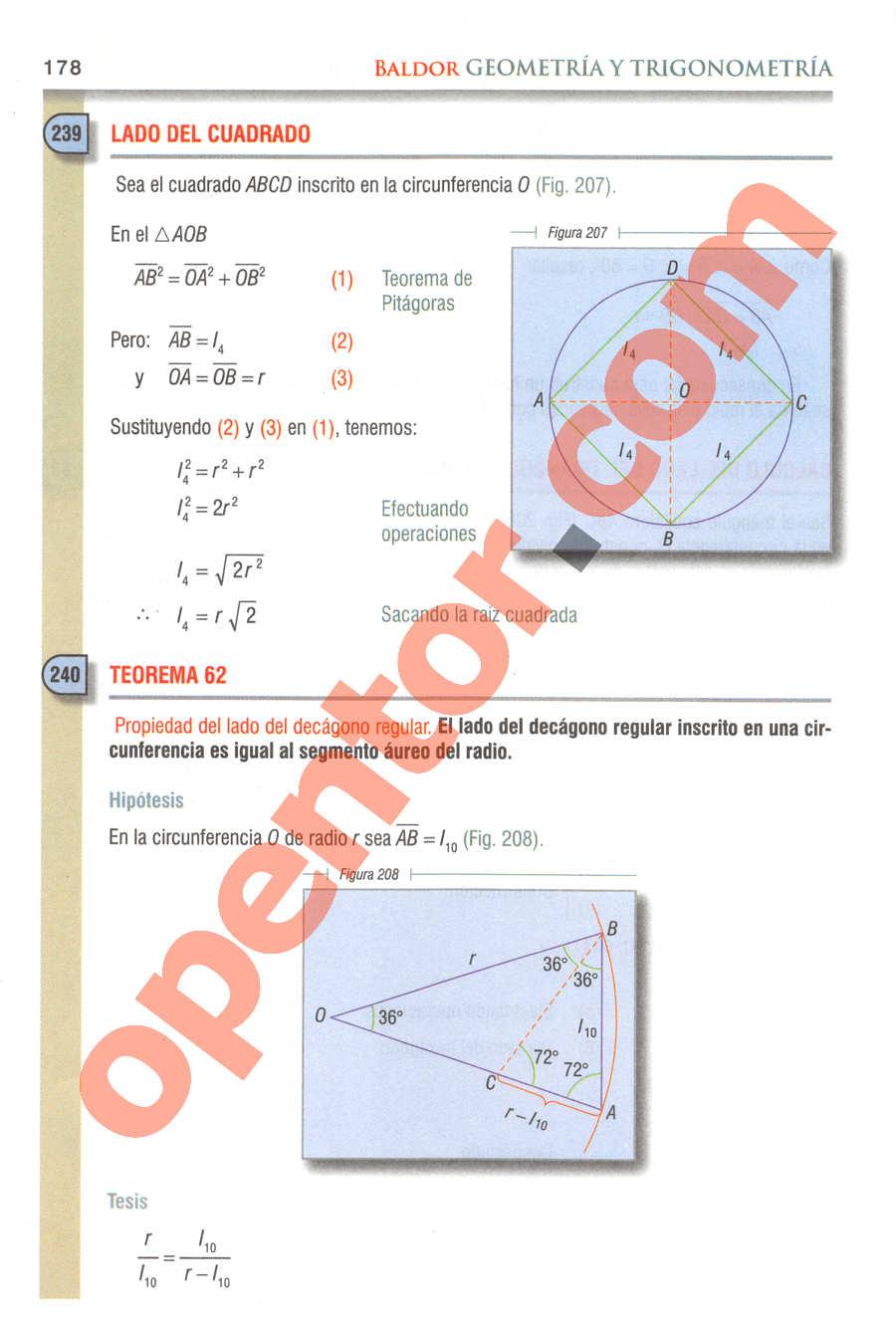 Geometría y Trigonometría de Baldor - Página 178