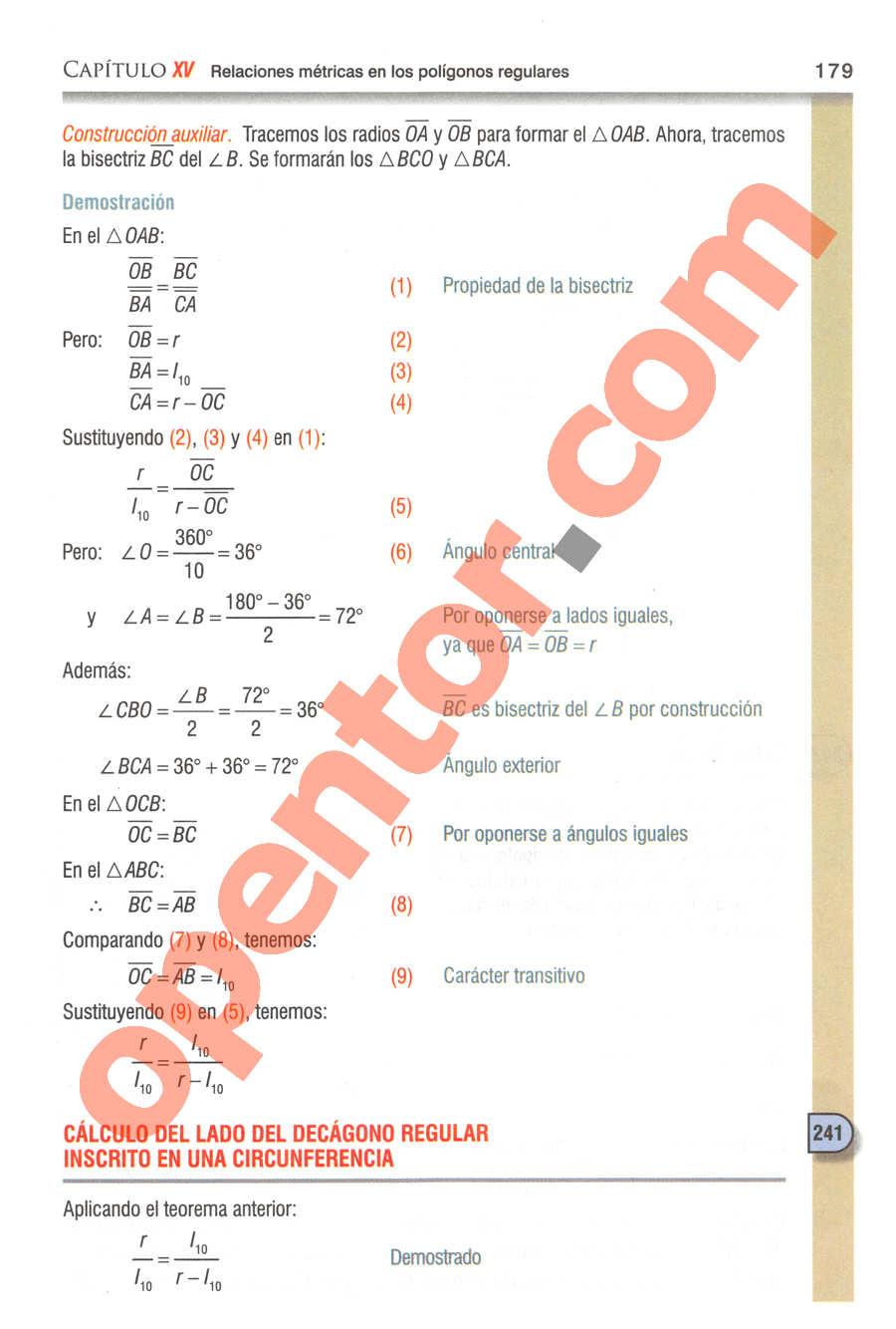 Geometría y Trigonometría de Baldor - Página 179
