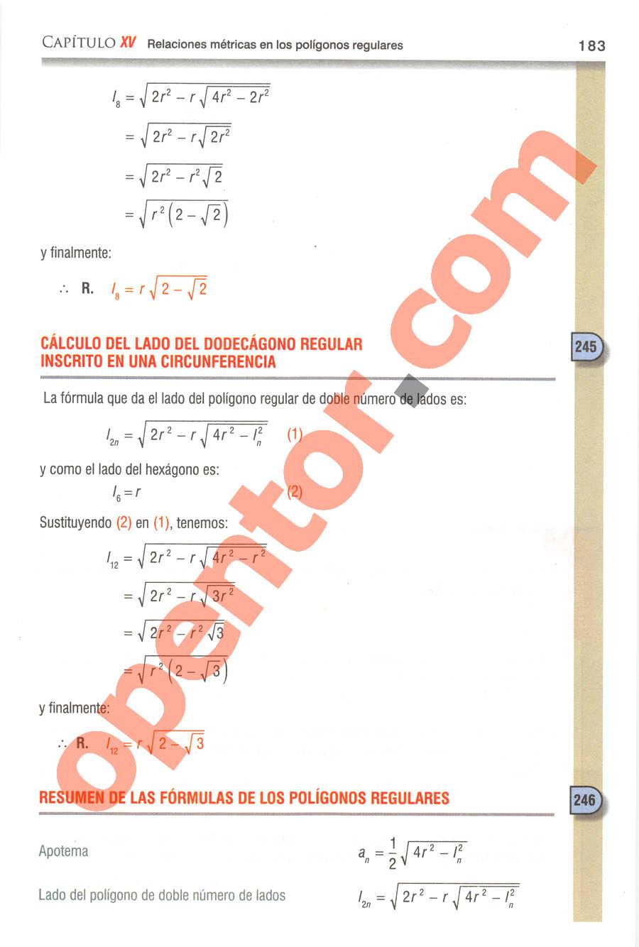 Geometría y Trigonometría de Baldor - Página 183
