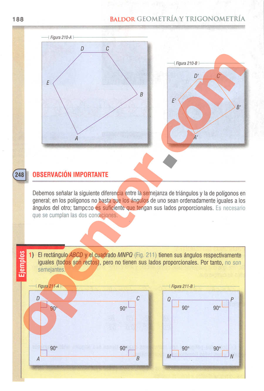 Geometría y Trigonometría de Baldor - Página 188