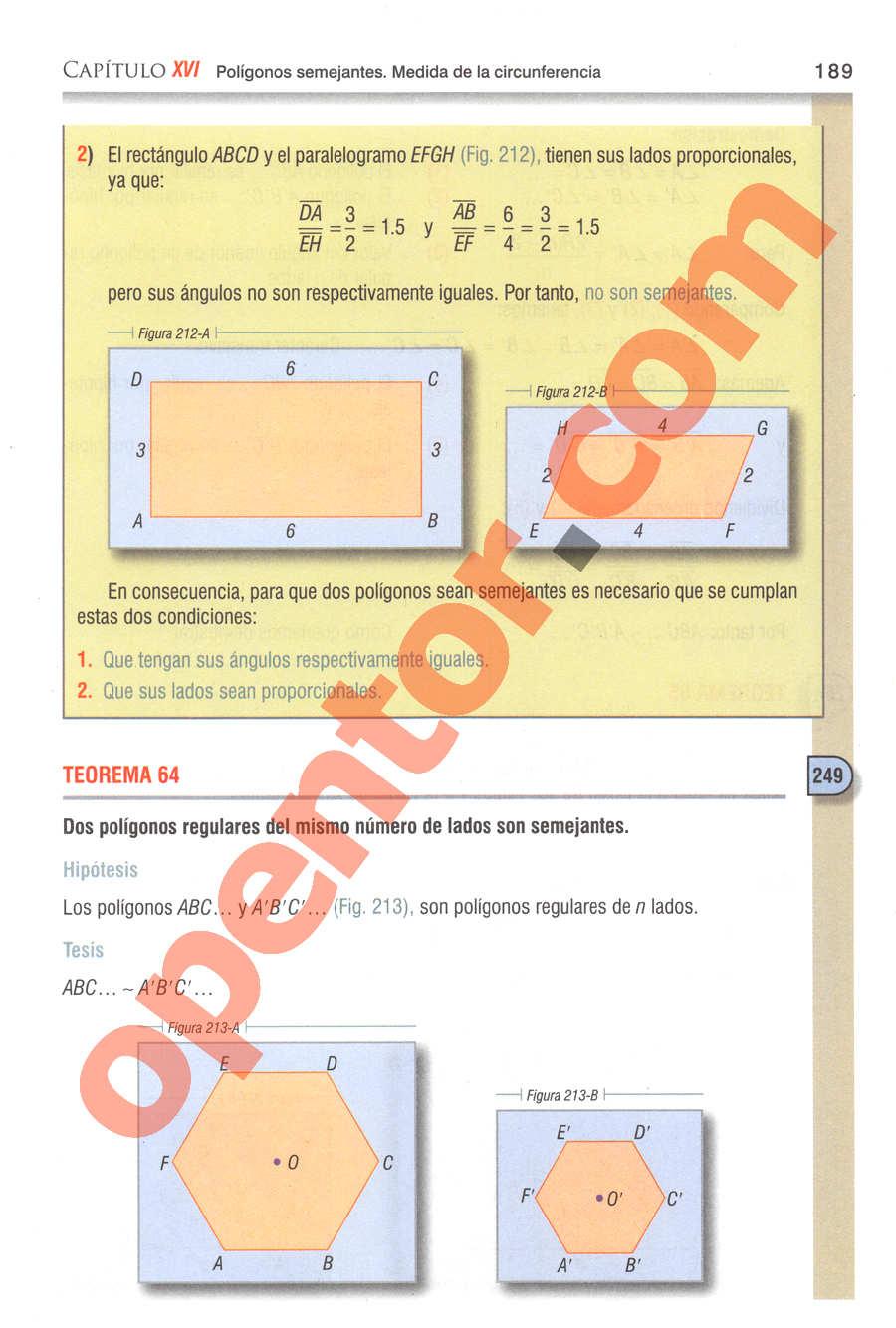 Geometría y Trigonometría de Baldor - Página 189
