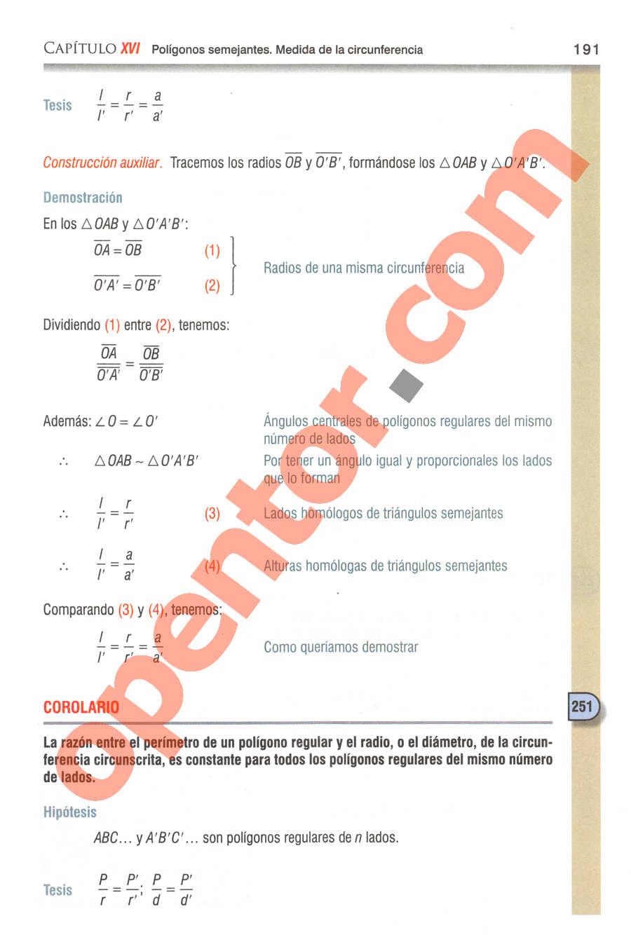 Geometría y Trigonometría de Baldor - Página 191