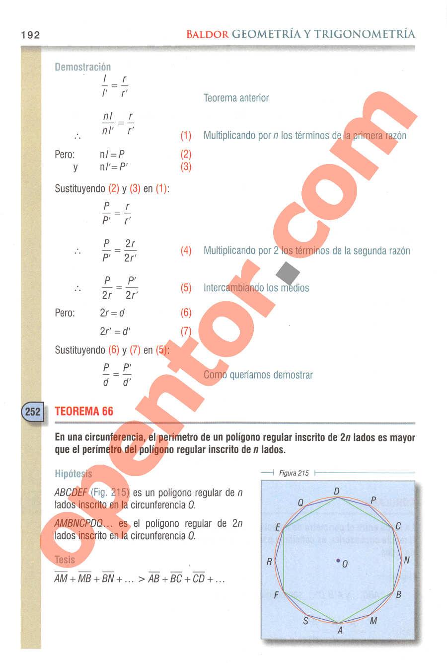 Geometría y Trigonometría de Baldor - Página 192
