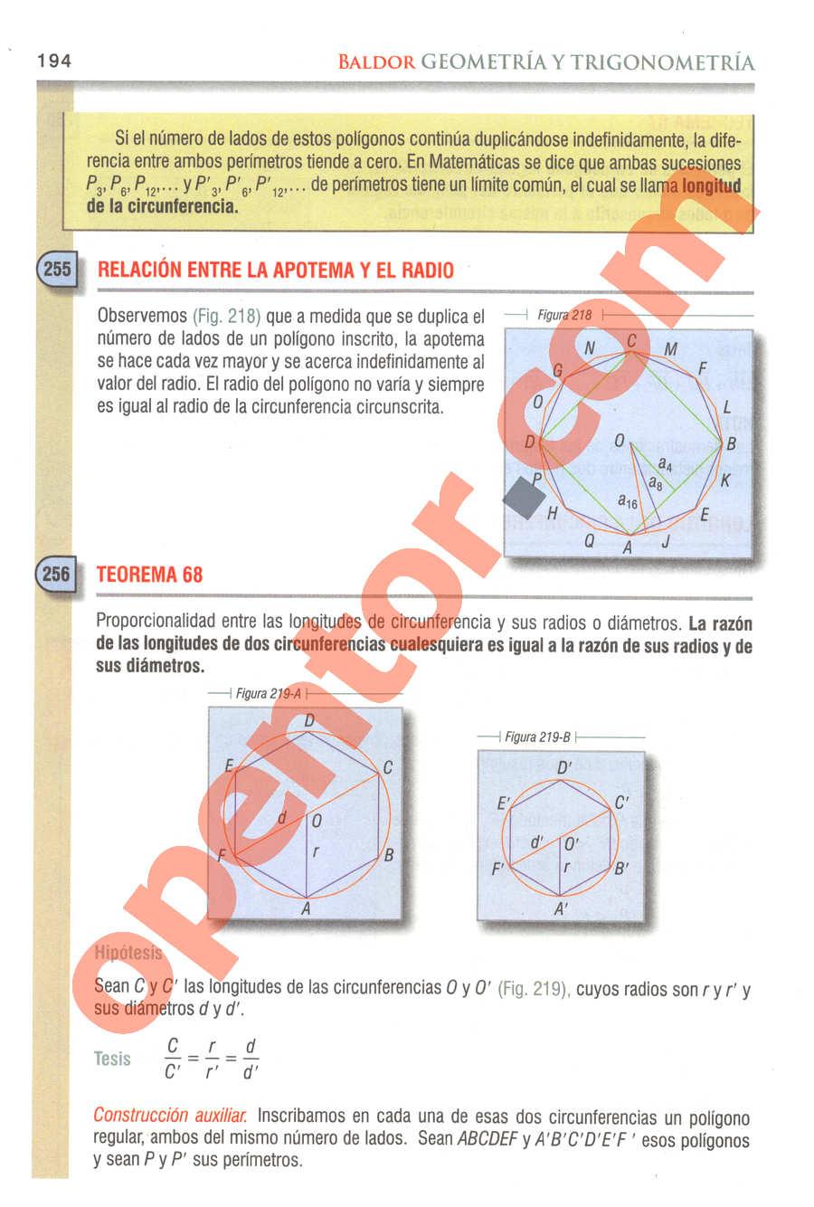 Geometría y Trigonometría de Baldor - Página 194