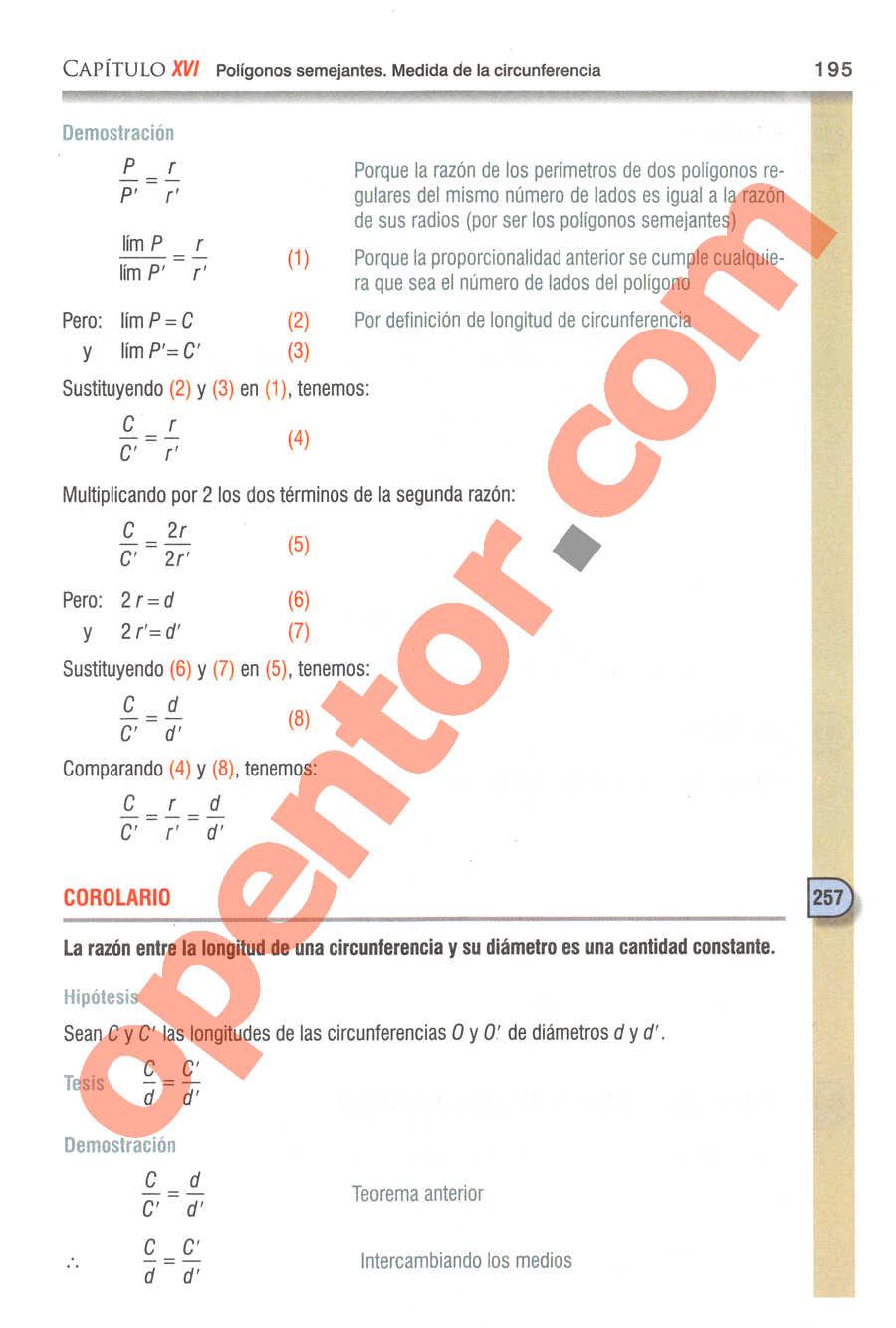 Geometría y Trigonometría de Baldor - Página 195