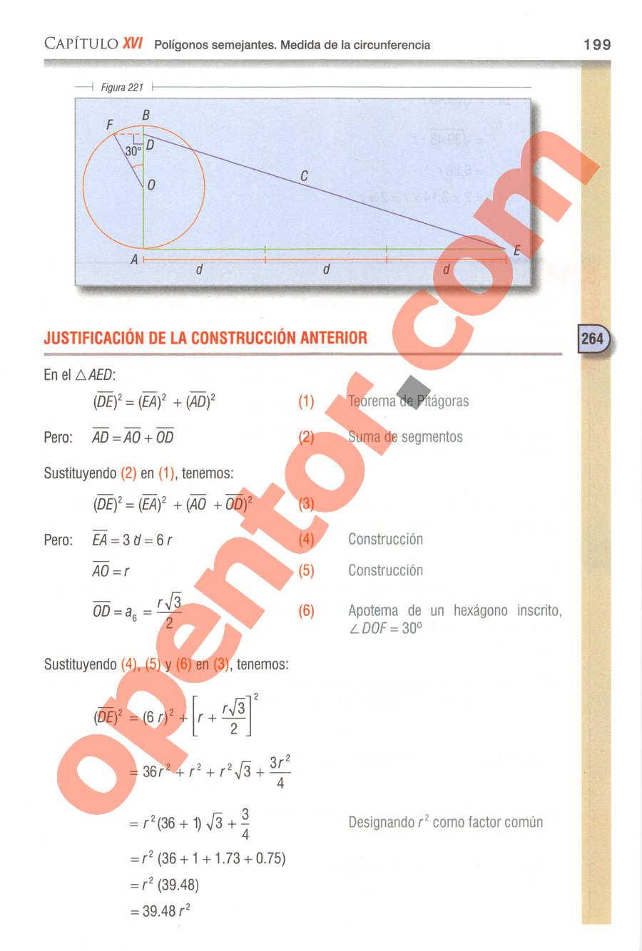 Geometría y Trigonometría de Baldor - Página 199