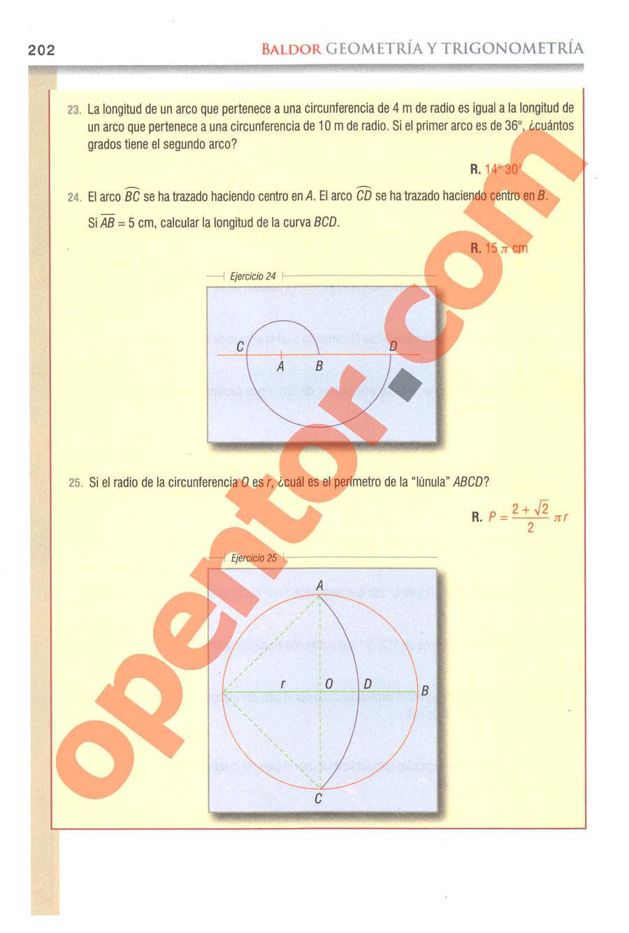 Geometría y Trigonometría de Baldor - Página 202