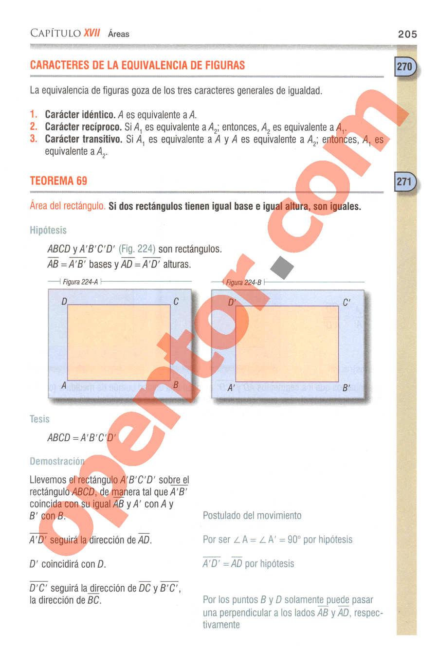 Geometría y Trigonometría de Baldor - Página 205