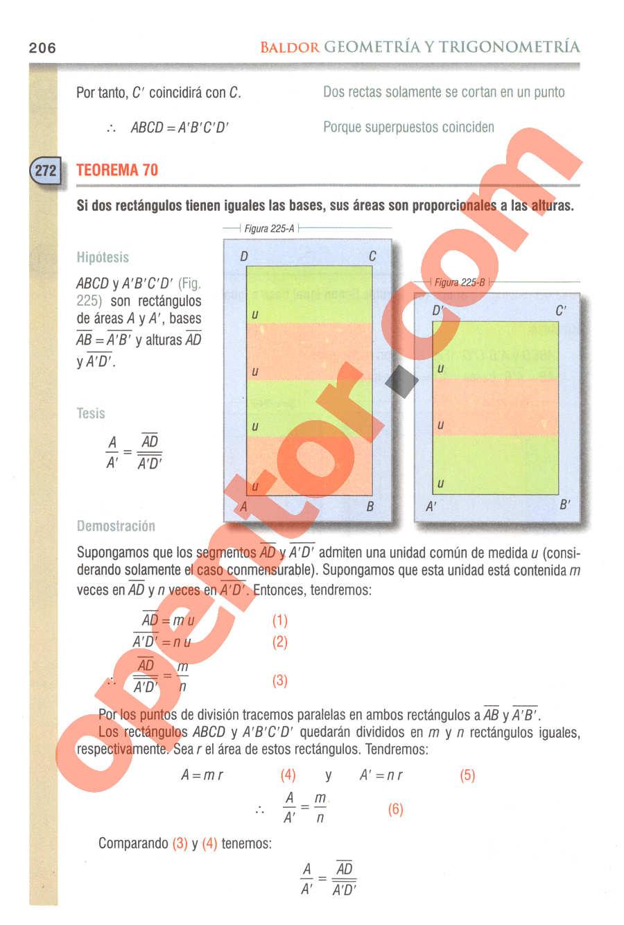 Geometría y Trigonometría de Baldor - Página 206