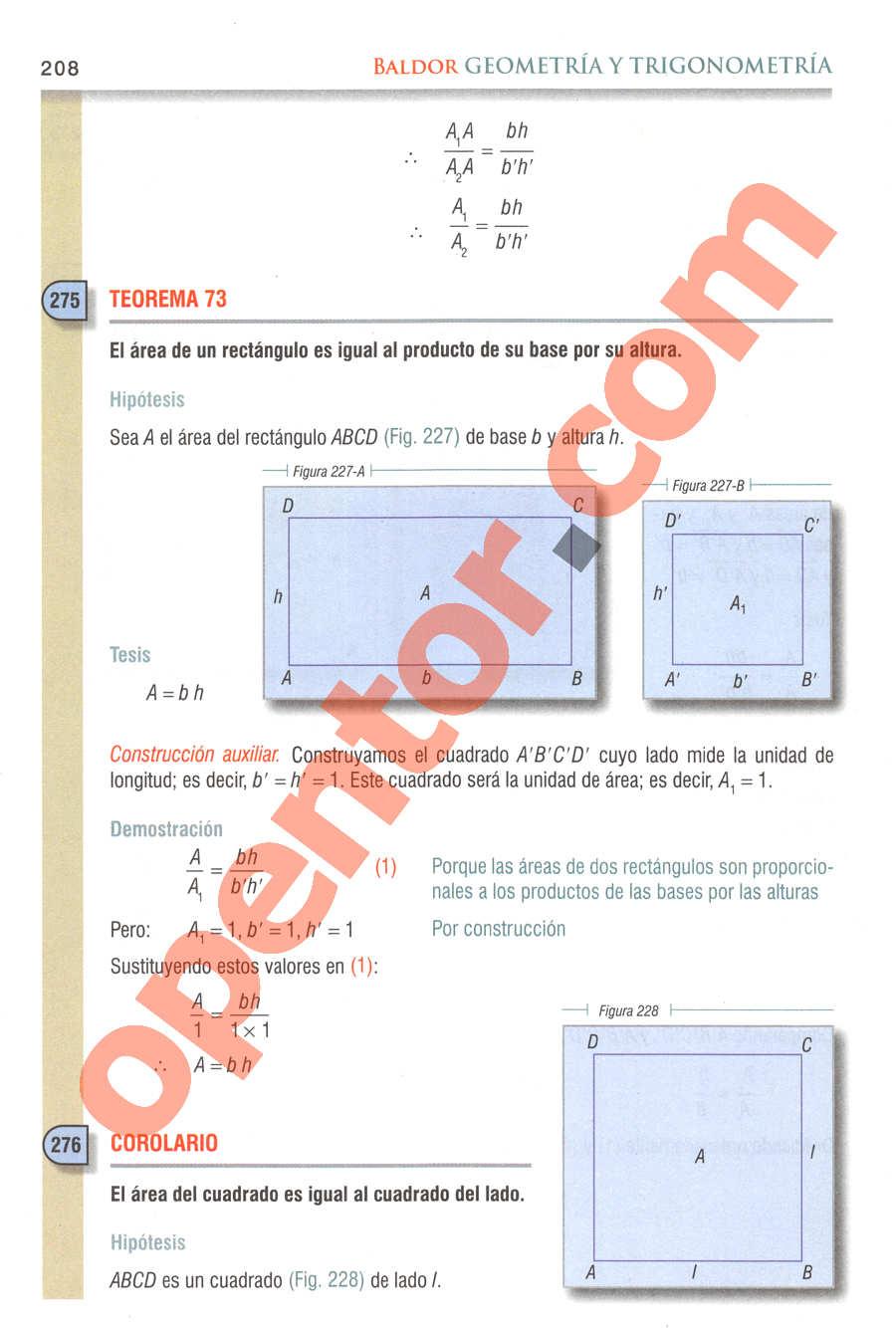 Geometría y Trigonometría de Baldor - Página 208