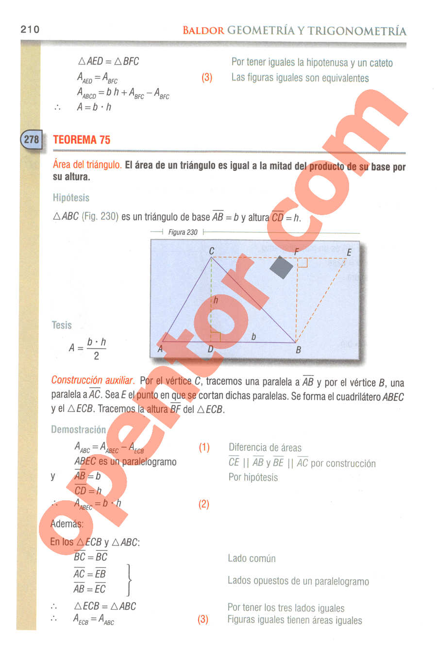 Geometría y Trigonometría de Baldor - Página 210