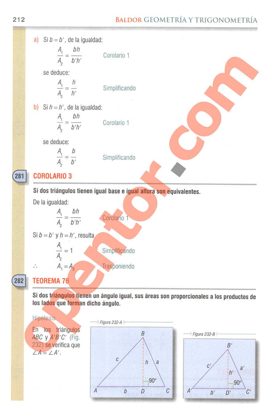 Geometría y Trigonometría de Baldor - Página 212