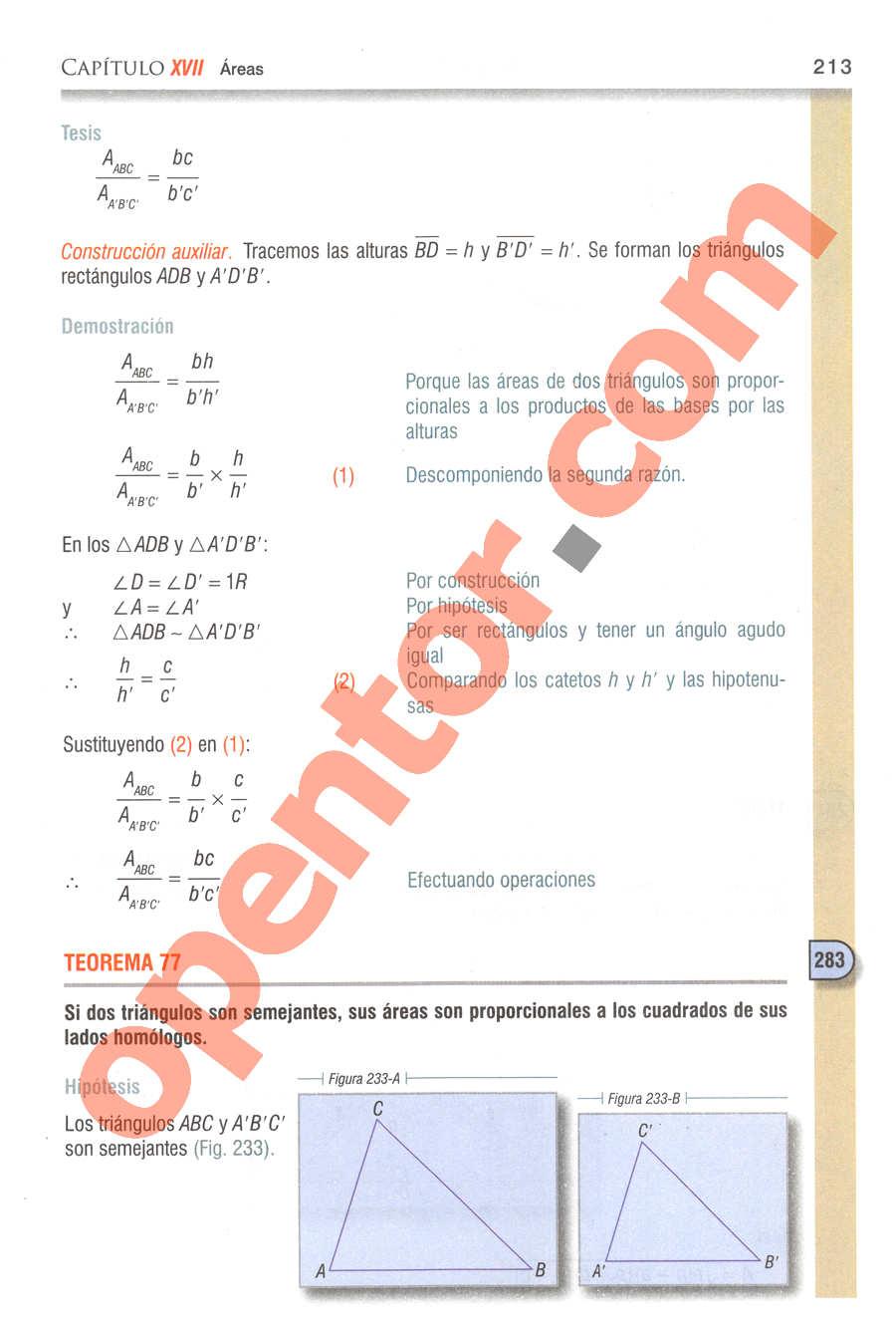 Geometría y Trigonometría de Baldor - Página 213