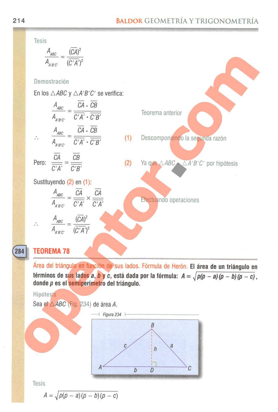 Geometría y Trigonometría de Baldor - Página 214