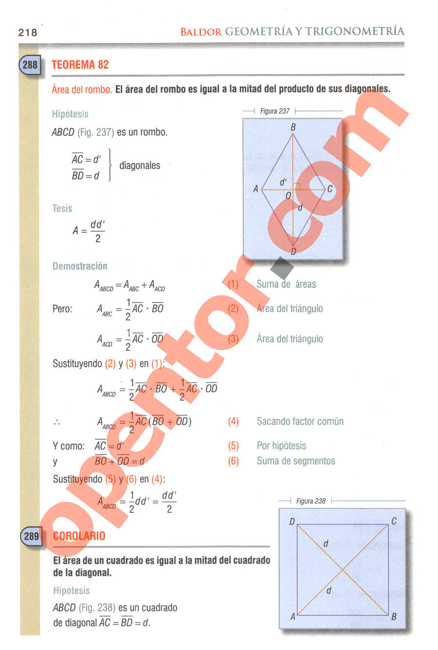 Geometría y Trigonometría de Baldor - Página 218