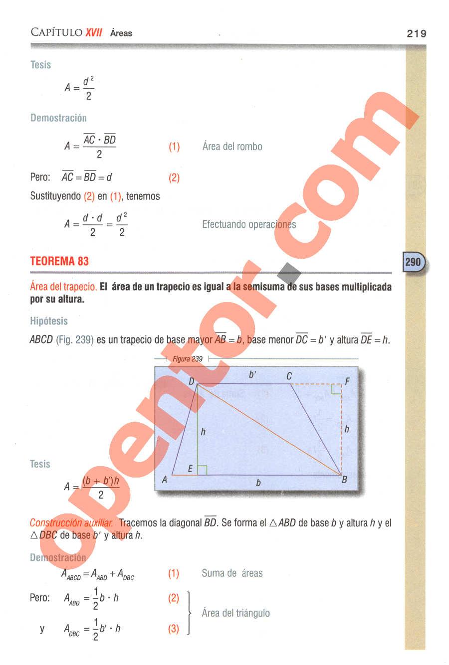 Geometría y Trigonometría de Baldor - Página 219
