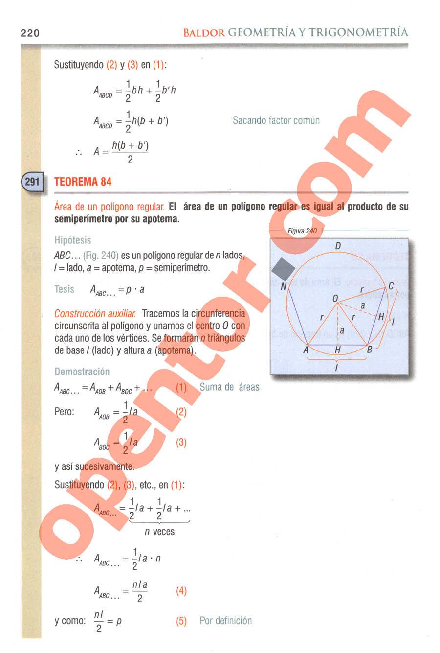 Geometría y Trigonometría de Baldor - Página 220