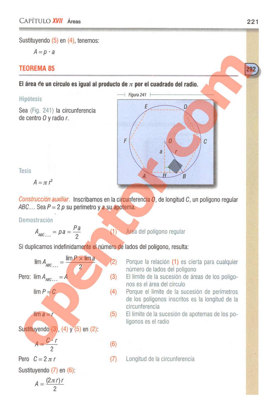 Geometría y Trigonometría de Baldor - Página 221