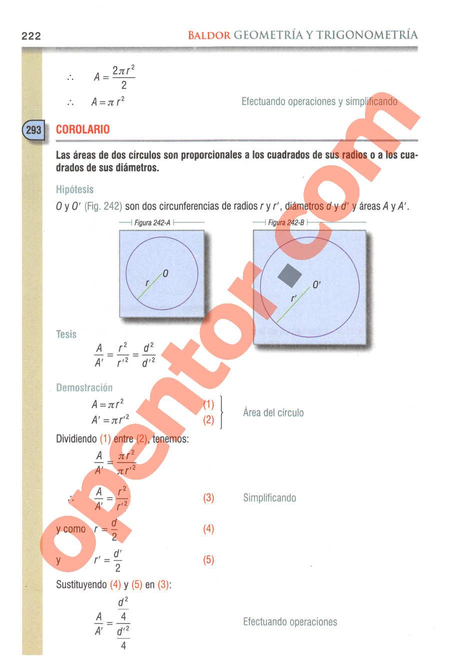 Geometría y Trigonometría de Baldor - Página 222