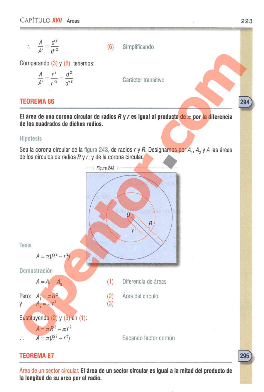 Geometría y Trigonometría de Baldor - Página 223