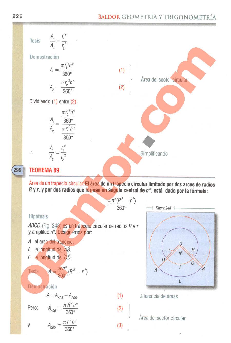 Geometría y Trigonometría de Baldor - Página 226