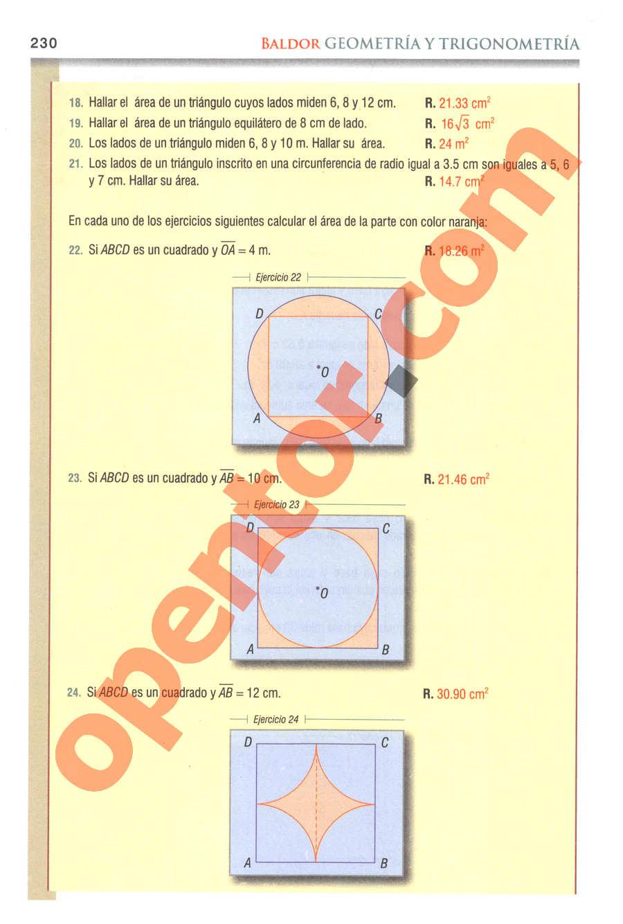 Geometría y Trigonometría de Baldor - Página 230