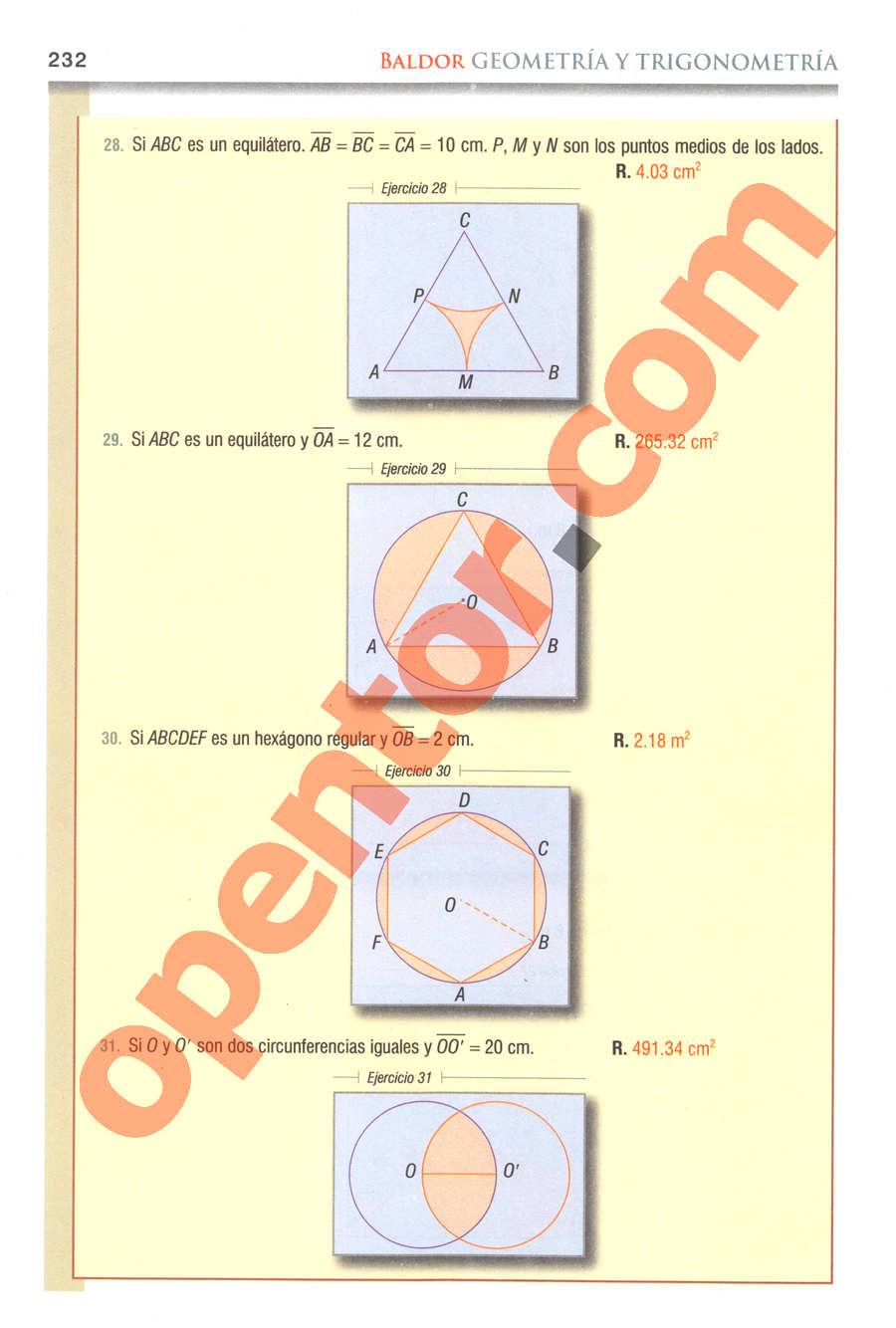 Geometría y Trigonometría de Baldor - Página 232