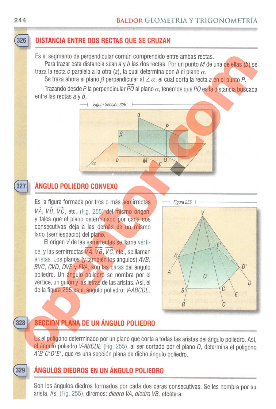 Geometría y Trigonometría de Baldor - Página 244