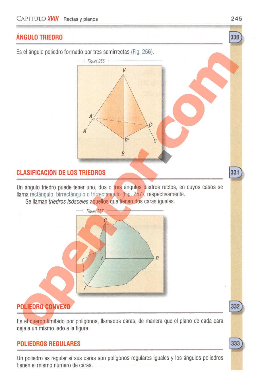 Geometría y Trigonometría de Baldor - Página 245